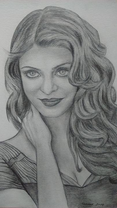 Miss World Aishwarya Rai - Summer Sketching