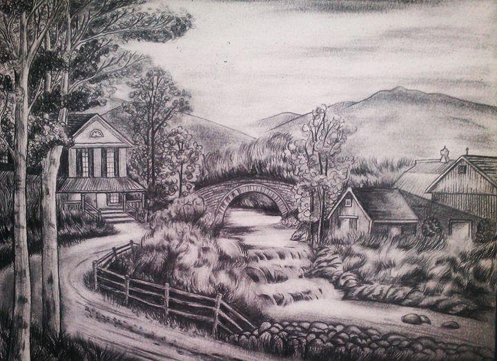 Peaceful Landscape - Summer Sketching