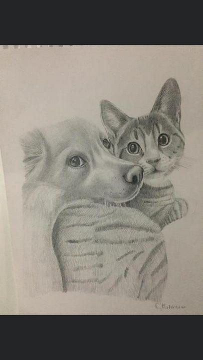 Cat & dog - Sammy's Art