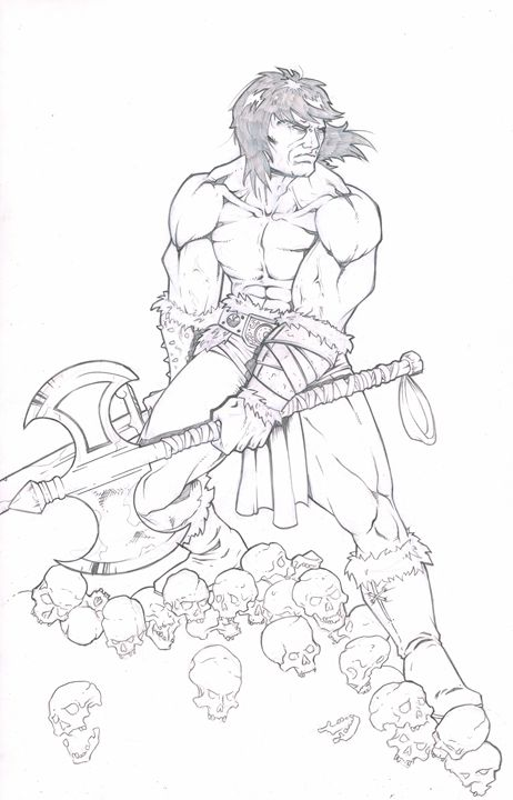 11x17 Conan the Barbarian Pencil - Sean Stramara Illustration