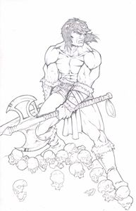 11x17 Conan the Barbarian Pencil