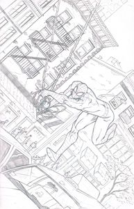 spider-man pencil illustration