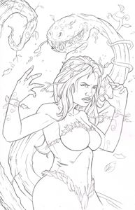 poison ivy pinup pencils