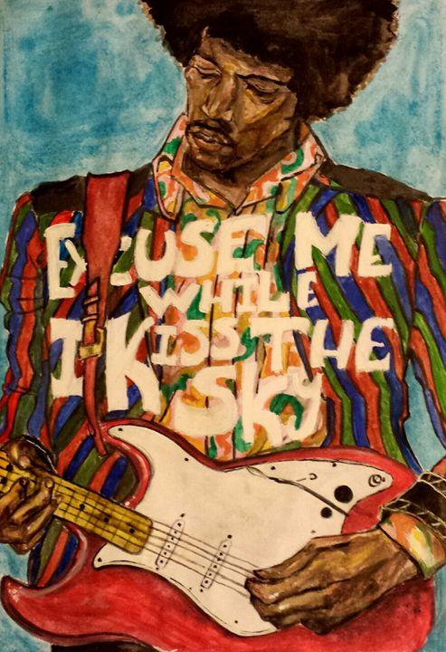 Jimi Hendrix Watercolour - ArteMusica