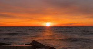 Sun rising in the far East