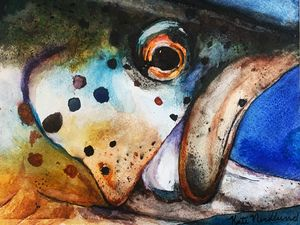 Watercolor Trout - Kate Pratt Acrylics