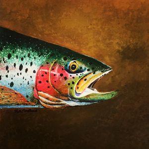 Colorful Trout - Kate Pratt Acrylics