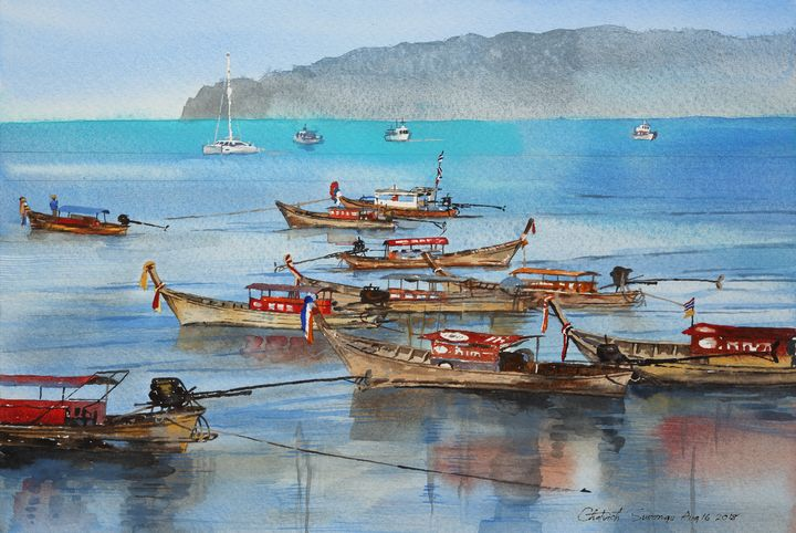 Seashore at the south of Thailand - Chotvich Suwongs