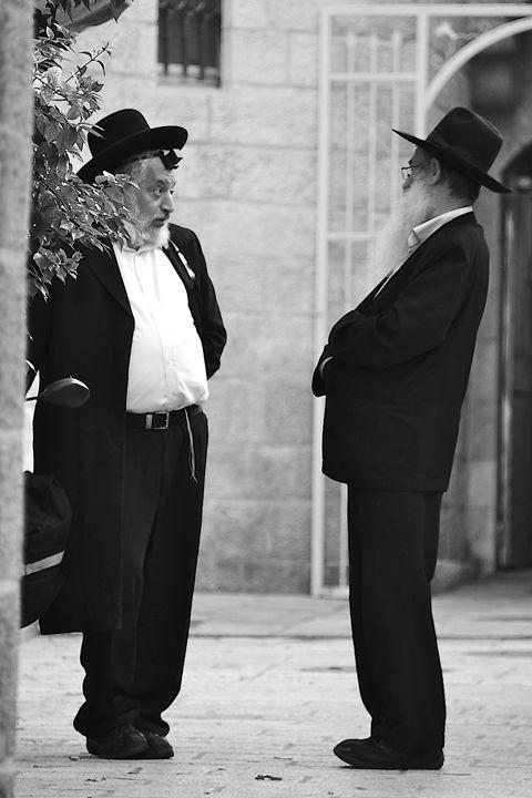 Rabbis in Jerusalem - Moise Levi Photography