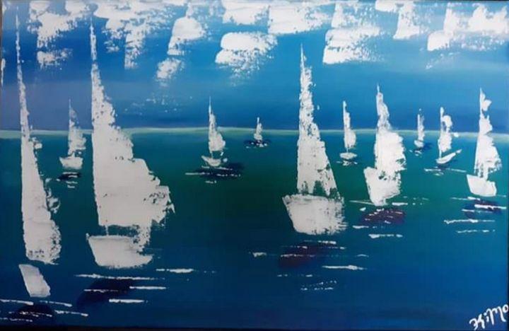 Morning Sail - Canvas by Kim