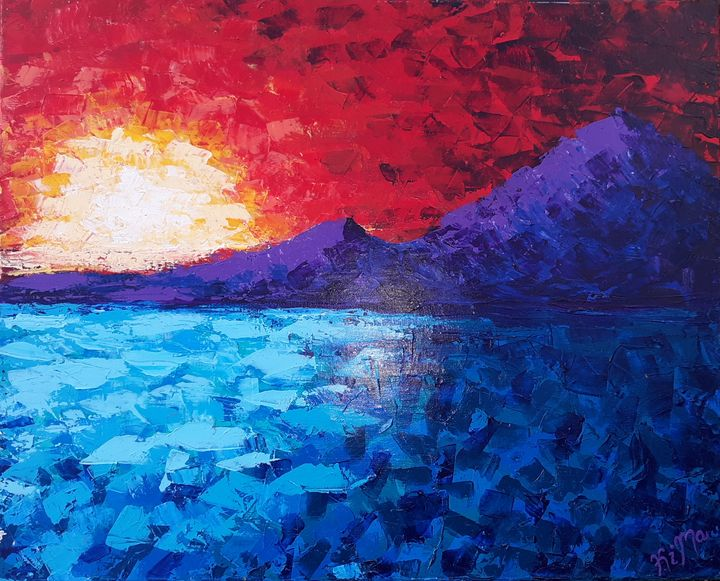 Sunset In The Mountains - Canvas by Kim
