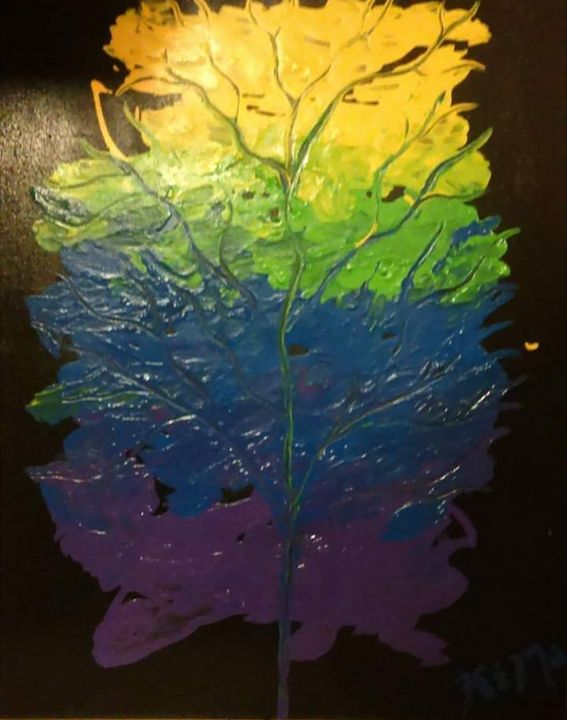 Cool Color Tree - Canvas by Kim