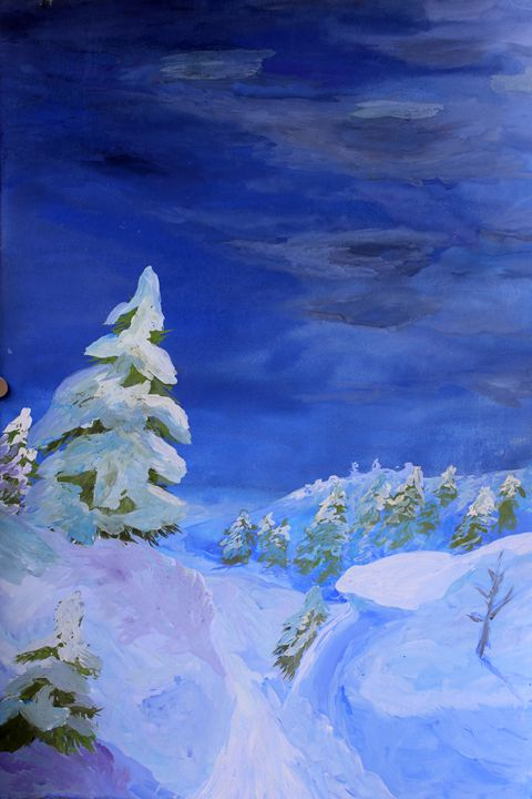 Winter landscape with tree - Alex Coan