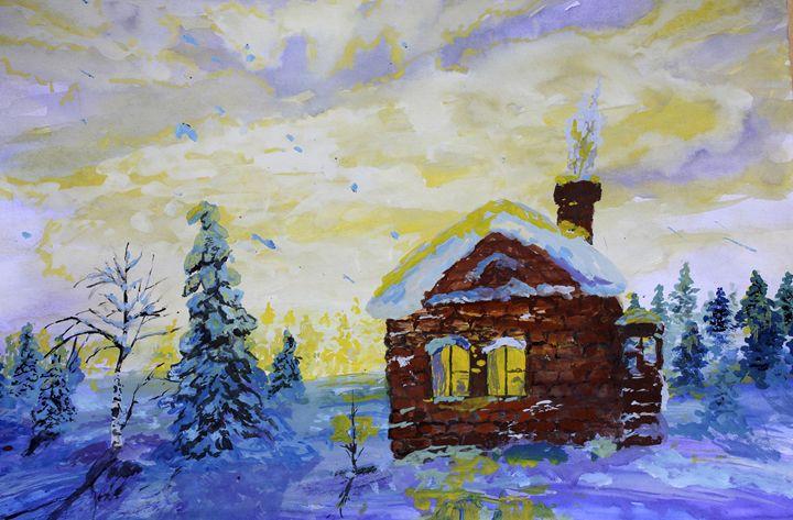 Fairy tale winter landscape - Alex Coan