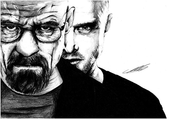 Breaking Bad, Walter and Jesse - MiikeDrawings