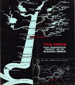 Vintage map of the Tva System
