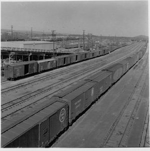 DeButts Rail Yard in 1950