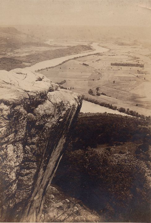 Early View From Lookout Mountain. - Historic Chattanooga