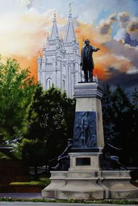 Brigham Young Monument - Lester Nielsen Art