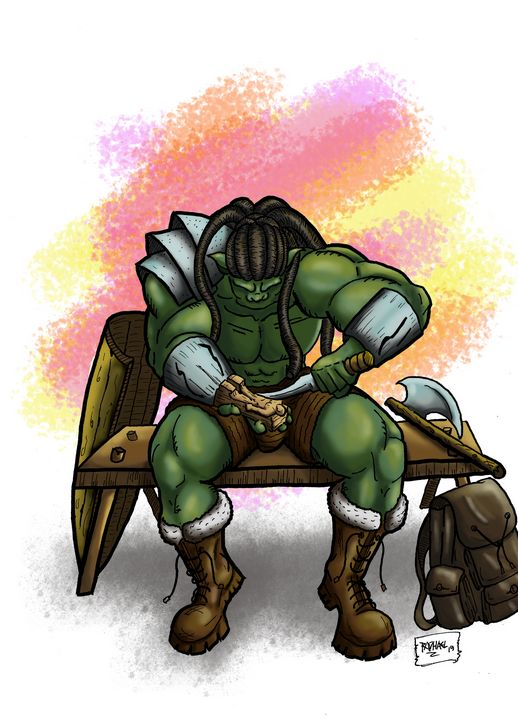 Brokar, the artisan barbarian Orc - stonewolfdf