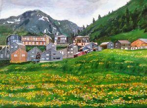 A beautiful Swiss town