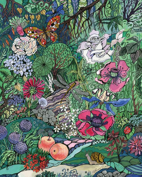 In The Corner Of The Shady Garden - Oksana Ivanik