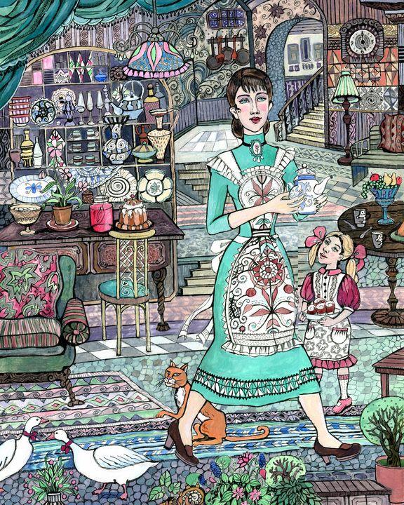 HOME SWEET HOME. TEA-TIME - Oksana Ivanik