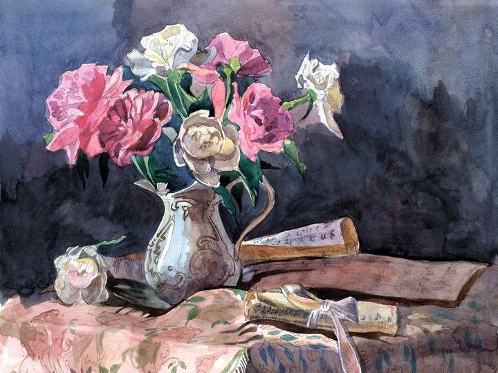 STILL LIFE WITH PEONIES - Oksana Ivanik