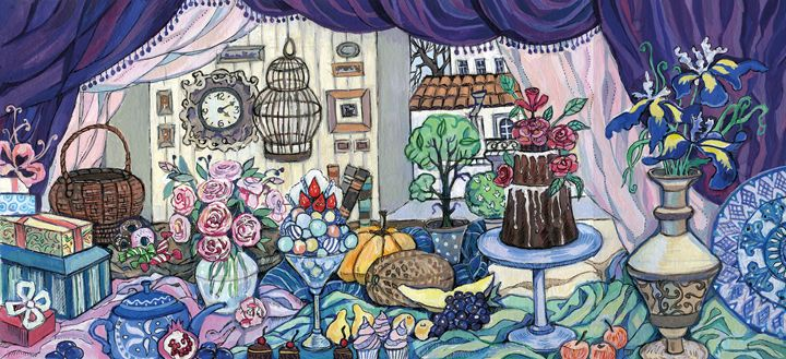 Still Life with Irises (2017) - Oksana Ivanik