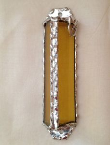 Stained Glass Mezuzah Covers