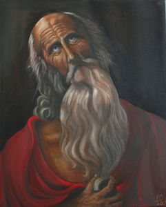 Saint Jerome inspired by old master