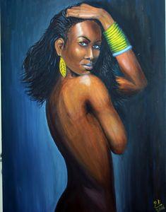 Nude African woman - Desire