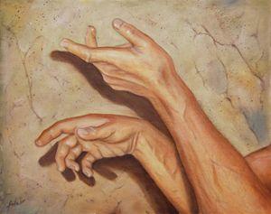Michel's hands