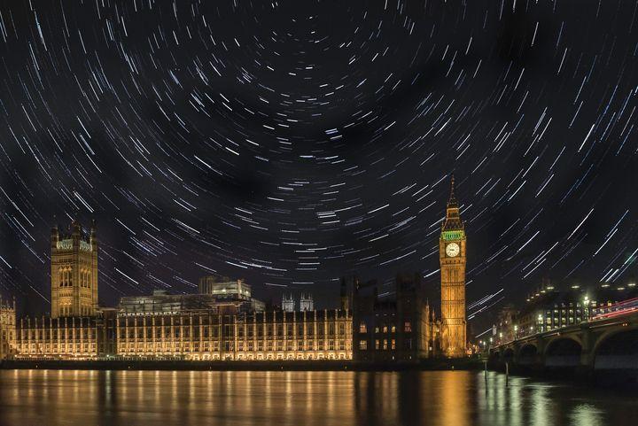 Big Ben star trails - travelling journalist