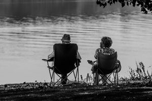 A quiet picnic by the water
