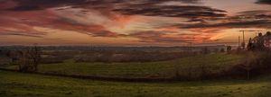 Warwickshire panorama sunset