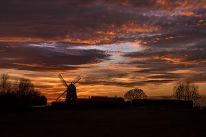 Napton at sunset