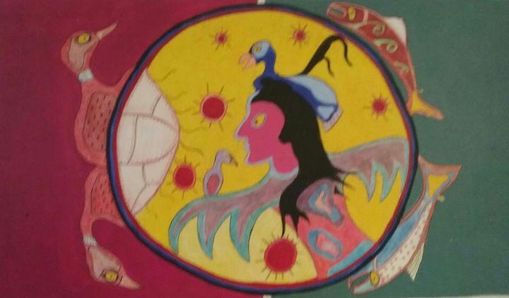 Shaman goes to to the spirit world - Mi'kmaq Art & Crafts