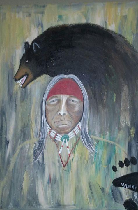 Medicine Bear Spirit - Mi'kmaq Art & Crafts