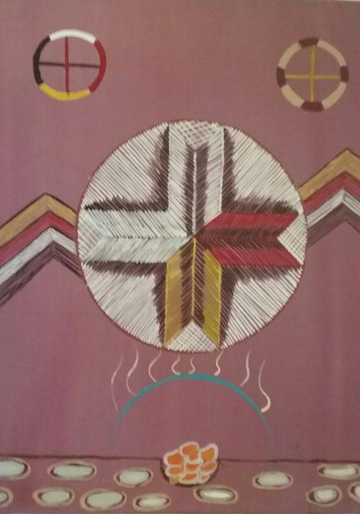 Birchbark quilled box top - Mi'kmaq Art & Crafts