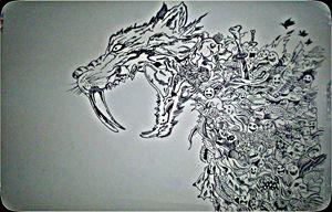 Doodling Lion