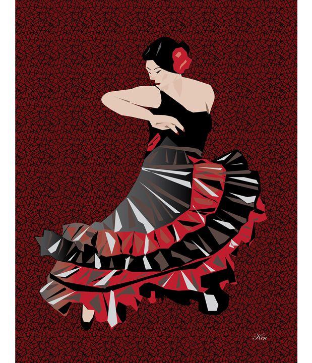 Flamenco Dancer - Kenneth Leon Roberts