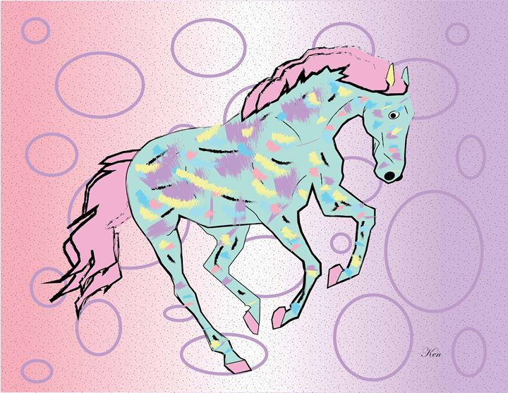 Pastel Horse - Kenneth Leon Roberts