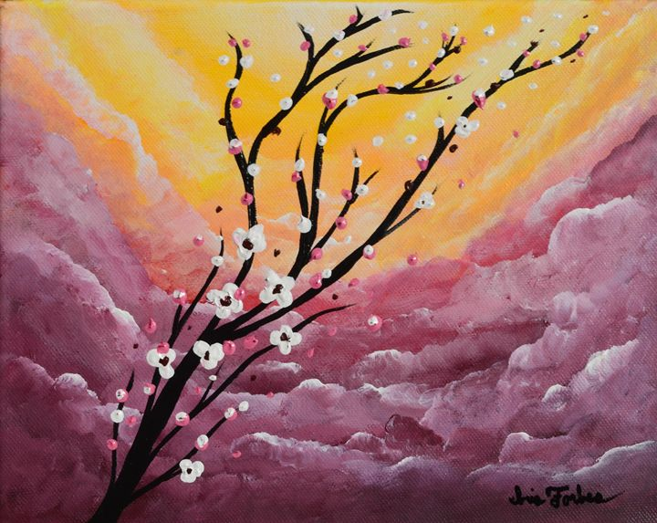 Lavender Skies - Simplicity of Art by Iris Forbes