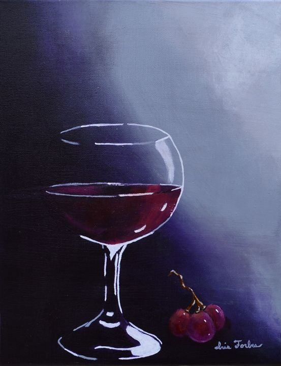 Wine-Ding Down - Simplicity of Art by Iris Forbes