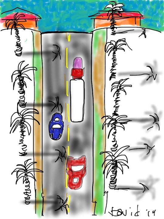 Stanford palms III - DavidMartinArt