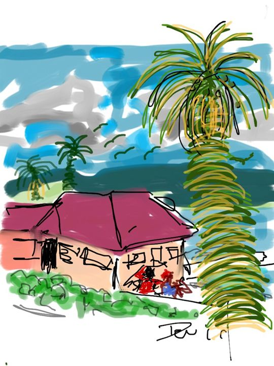 Stanford Palms I - DavidMartinArt