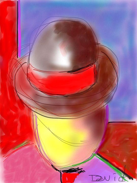 Man In a brown hat - DavidMartinArt