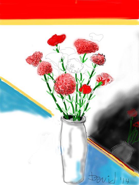 Still Life - Carnations - DavidMartinArt