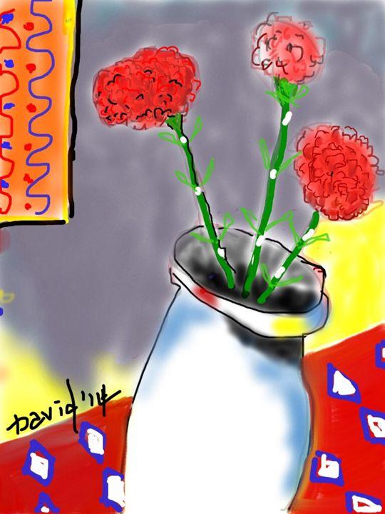 Still Life, Carnations - DavidMartinArt